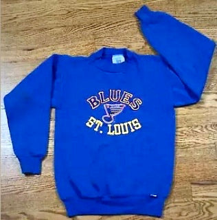Vintage St Louis Blues Embroidered Crew - Youth S/M