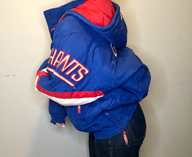 Vintage New York Giants Full-Zip Starter Puffer Jacket - XL