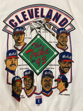 "Load image into Gallery viewer, Vintage 1995 Cleveland Indians ""The Tribe in 95"" Crew - Youth L / Adult XS"