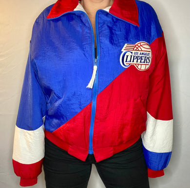 Vintage 80s-early 90s Los Angeles Clippers Swingster Bomber Jacket - L