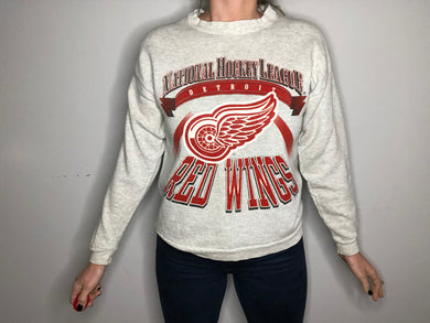 Vintage Detroit Red Wings Crew - S