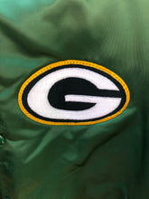 Load image into Gallery viewer, Vintage Green Bay Packers Chalk Line Satin Bomber - L
