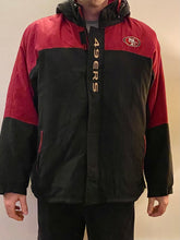 Load image into Gallery viewer, Vintage 90s San Francisco 49ers Full Zip Puffer Hooded Jacket - XXL
