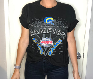2000 St Louis Rams Superbowl Champs TSHIRT - L