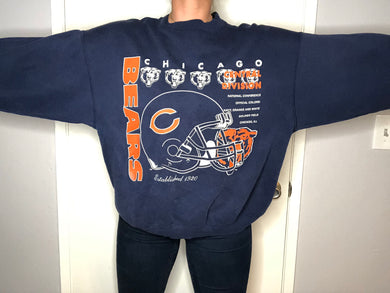 Vintage 90s Chicago Bears Hanes Crewneck -XL
