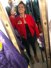 Load image into Gallery viewer, Vintage San Francisco 49ers Chalk Line Felt Bomber Jacket SPELL OUT - L