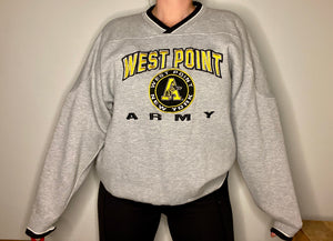 Vintage Army West Point USMA Lee Sport VNECK - XL