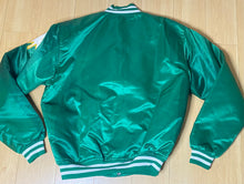 Load image into Gallery viewer, Vintage 1980s Boston Celtics Satin Bomber STARTER JACKET SPELL OUT - XL