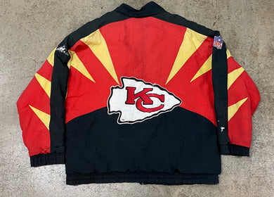 Vintage Kansas City Chiefs Apex One Puffer Jacket - FLAWS - L/XL