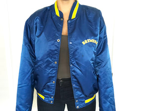 Vintage Milwaukee Brewers Satin Bomber Starter Jacket - XL