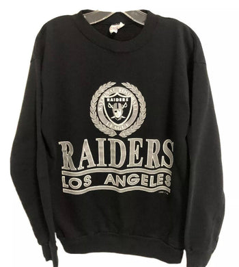 Vintage Late 80s-early 90s Los Angeles Raiders Logo 7 Crew - M