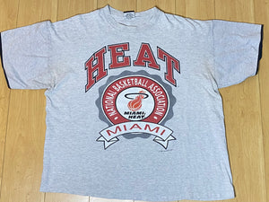 Vintage 1991 Miami Heat Old Logo TSHIRT - XL