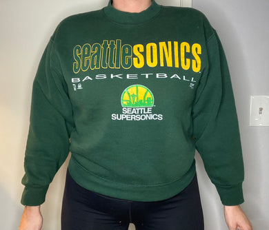 Vintage Seattle SuperSonics Original Logo Crew - M
