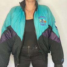 Load image into Gallery viewer, Vintage 1990s Charlotte Hornets Full Zip Pro Player Puffer Jacket - XL