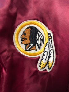 Vintage Washington Redskins Chalk Line Satin Bomber Jacket - L