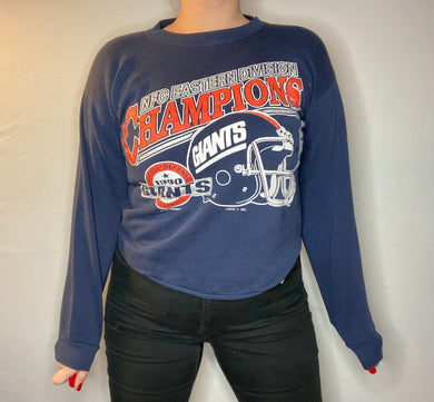 Vintage 1990 New York Giants NFC East Champs Crew - S/M