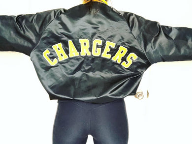 Chargers Chalk Line Bomber - XL - Rad Max Vintage