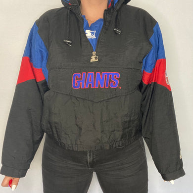 Vintage 1990s New York NY Giants Pullover Puffer Starter Jacket - Youth Large / Adult Small