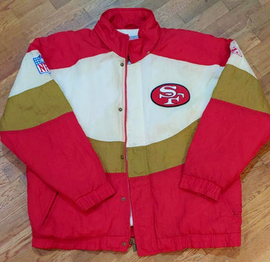 Vintage San Francisco 49ers APEX ONE Puffer Jacket - L / XL