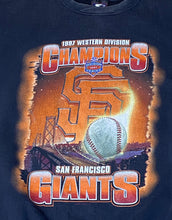 Load image into Gallery viewer, Vintage 1997 San Francisco SF Giants Western Division Champs Crew from STARTER - L
