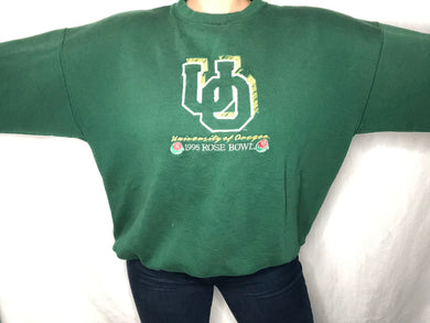 Vintage 1995 Oregon Ducks Football Rose Bowl Champs Crew - XXL