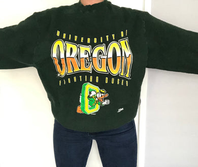 Vintage 1994-1998 Oregon Ducks Donald Duck Crew - L