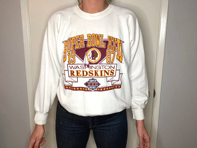 1987 Washington Redskins Super Bowl Crew - S - Rad Max Vintage