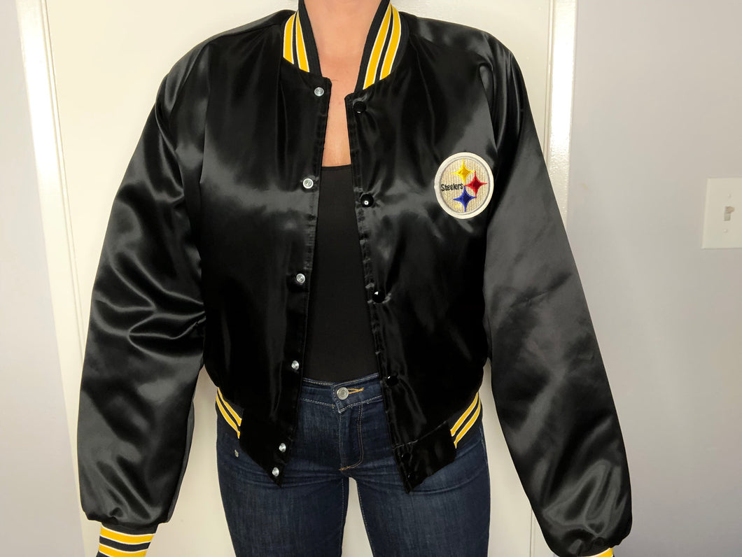 Pittsburgh Steelers Chalk Line Bomber - L - Rad Max Vintage