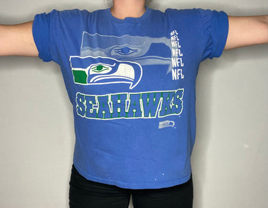 Vintage 1990s Seattle Seahawks Old Colors TSHIRT - L