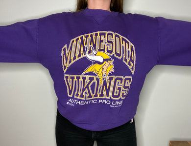 Vintage 1995 Minnesota Vikings Authentic Pro Line Crew - L