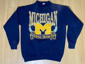 Vintage Early 1990s University of Michigan Wolverines Crew - M
