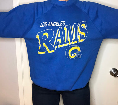 Vintage Los Angeles Rams Crew 1982-94 - L