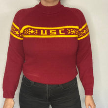 Load image into Gallery viewer, Vintage 1970s University of Southern California USC Trojans Mockneck Sweater - S