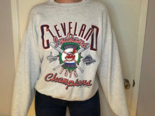 Load image into Gallery viewer, Vintage 1995 Cleveland Indians American League Champs Crew - L