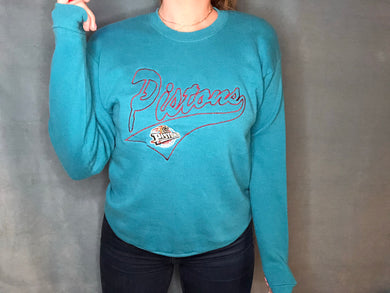 Vintage Detroit Pistons Teal Crew from Nutmeg - S