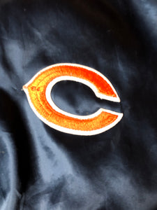 Chicago Bears Chalk Line Satin Bomber - L - Rad Max Vintage