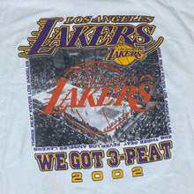 Load image into Gallery viewer, Vintage 2002 Los Angeles LA Lakers Three Peat Champions Double-Sided TSHIRT - XL