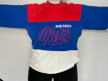 Load image into Gallery viewer, Vintage 1990s New Jersey Nets Nutmeg Mills Crew - L
