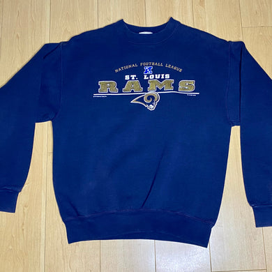 Vintage 2001 St Louis Rams Navy Crew - Youth XL / Adult XS/S
