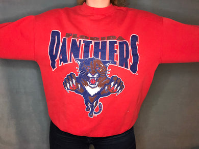 Vintage 1993 Florida Panthers Inaugural Season Crew - L