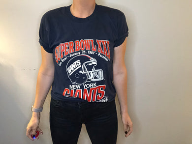 1987 New York Giants Super Bowl XXI TSHIRT - M