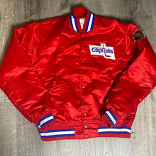 Load image into Gallery viewer, Vintage Washington Capitals Old Logo Satin Bomber STARTER Jacket - M