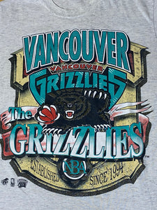 Vintage 1994 Vancouver Grizzlies Inaugural Season TSHIRT - Youth Large / Adult XS