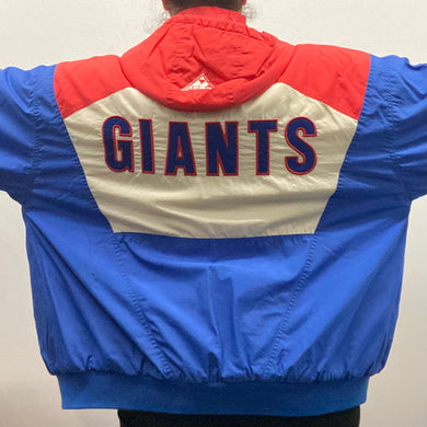 Vintage Early 90s New York NY Giants Apex One Puffer Jacket - L/XL