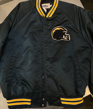 Load image into Gallery viewer, Vintage San Diego Chargers Chalk Line Satin Bomber Jacket SPELL OUT - L