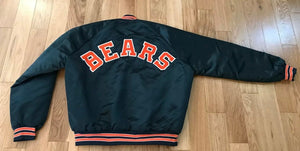 Vintage Chicago Bears Chalk Line Satin Bomber SPELL OUT - L