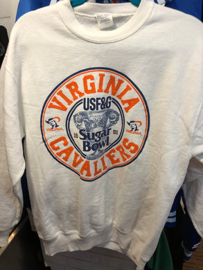 Vintage 1991 UVA University of Virginia Cavaliers Sugar Bowl Crew - L