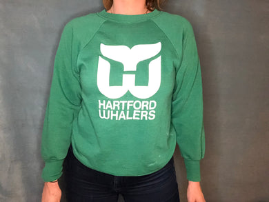 Vintage 1980s Hartford Whalers Mike Liut Crew - XS