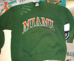 Vintage Miami Hurricanes Crew from Team Edition - L