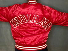 Load image into Gallery viewer, Vintage Indiana University Hoosiers SPELLOUT Satin Bomber Jacket - M